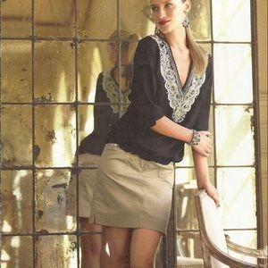 White House Black Market 100% silk blouse